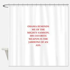 anti obama Shower Curtain