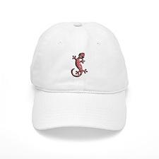 Red White Paisley Baseball Cap