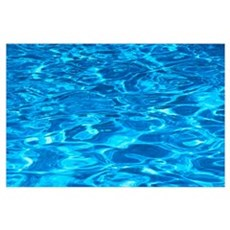 Aqua Blue Water Reflections In Pool, Multicolored Poster