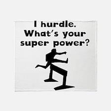 I Hurdle Super Power Throw Blanket