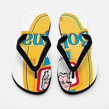 Funny God evolution Flip Flops