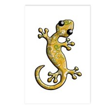 Yellow Green Paisley Postcards (Package of 8)