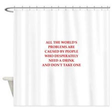 uptight Shower Curtain