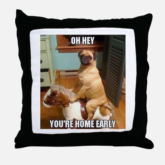 Cute Pugs Throw Pillow