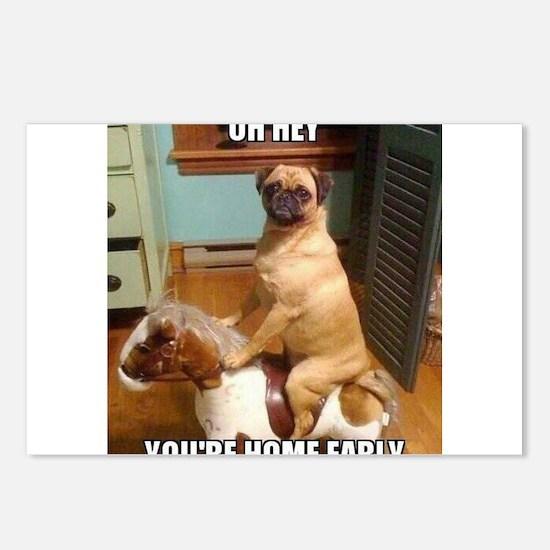 Cute Pugs Postcards (Package of 8)
