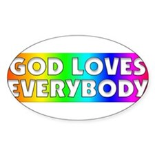 Cute God loves gays Decal