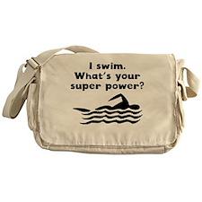 I Swim Super Power Messenger Bag