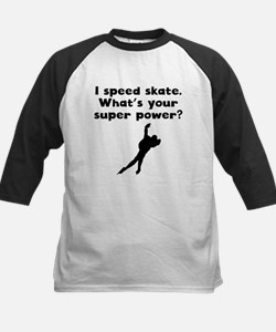 I Speed Skate Super Power Baseball Jersey