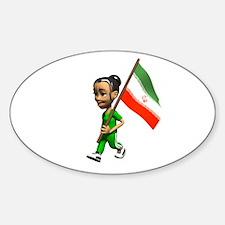 Iran Girl Oval Decal
