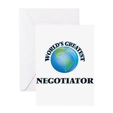 World's Greatest Negotiator Greeting Cards