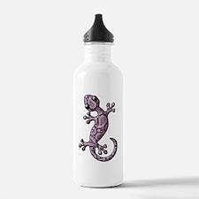 Purple White Paisley Water Bottle