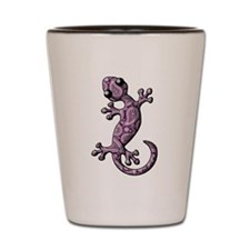 Purple White Paisley Shot Glass