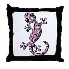 Purple White Paisley Throw Pillow