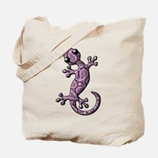 Purple White Paisley Tote Bag