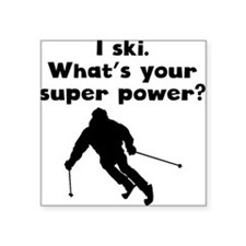 I Ski Super Power Sticker