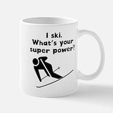 I Ski Super Power Mugs