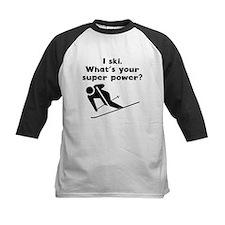 I Ski Super Power Baseball Jersey