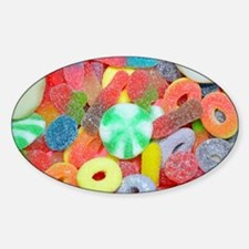 Colorful assorted chewy candy Decal