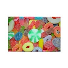 Colorful assorted chewy candy Magnets
