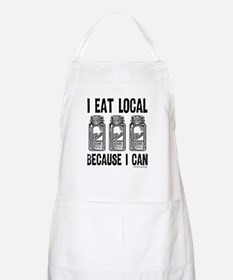I Eat Local Because I Can Apron