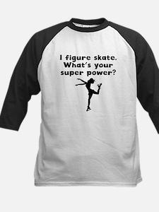 I Figure Skate Super Power Baseball Jersey