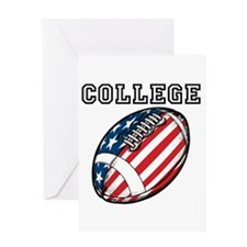 College Football Greeting Cards