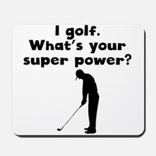 I Golf Super Power Mousepad