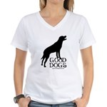 Good Dogs Women's V-Neck T-Shirt