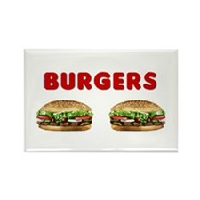 Nice Burgers Rectangle Magnet (10 pack)