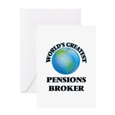 World's Greatest Pensions Broker Greeting Cards