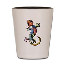 Calico Paisley Lizards Shot Glass