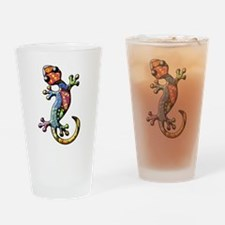 Calico Paisley Lizards Drinking Glass