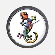 Calico Paisley Lizards Wall Clock