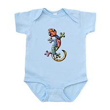 Calico Paisley Lizards Infant Bodysuit