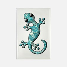 Turquoise Paisley Rectangle Magnet