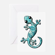 Turquoise Paisley Greeting Card