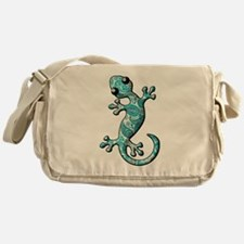 Turquoise Paisley Messenger Bag