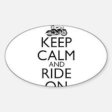 Cute Keep calm bike Decal