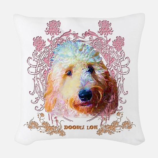 Doodle Love Woven Throw Pillow