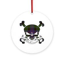 MacTaggart Tartan Skull Ornament (Round)