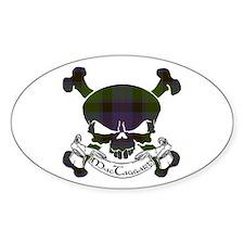 MacTaggart Tartan Skull Decal