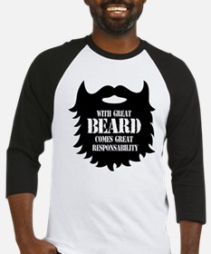 Great Beard - Great Responsability Baseball Jersey