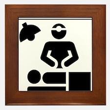 Cute Family medicine doctor Framed Tile
