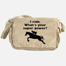 I Ride Super Power Messenger Bag