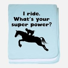 I Ride Super Power baby blanket