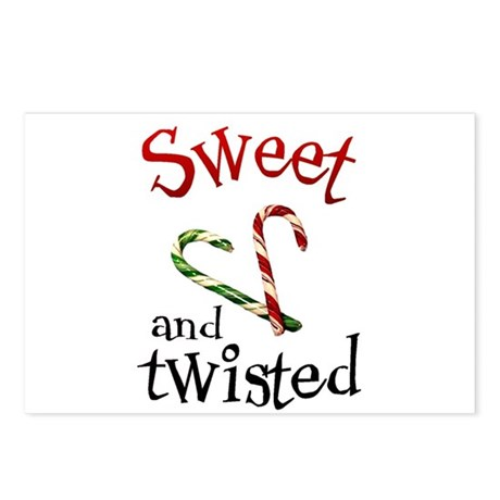 Sweet and Twisted Candy Cane Postcards (8)