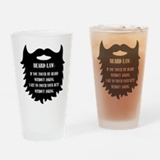 Beard Law Drinking Glass