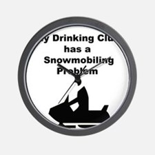 Snowmobile  Wall Clock