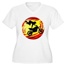 Explosive Motocross Jump Plus Size T-Shirt