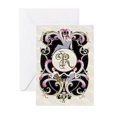 Monogram R Barbier Cabaret Greeting Cards